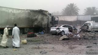 На месте взрыва в Джудейде аш-Шат