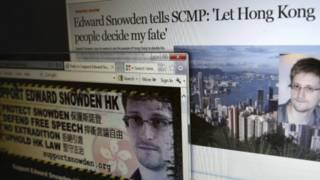 Ông Snowden trên báo Hong Kong