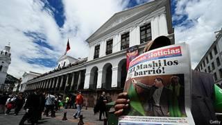 Pregonero en Quito