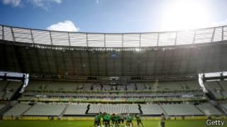 Castelão, em Fortaleza, em treino da seleção (Getty)
