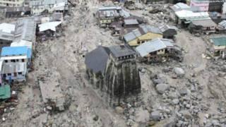 Devastated Kedarnath Temple