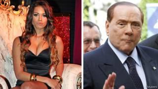 Кариме Махруг и Сильвио Берлускони