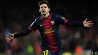 Lionel Messi, l'attaquant du FC Barcelone