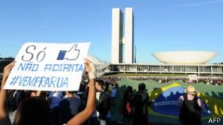 Manifestantes em Brasília | Foto: AFP