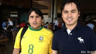 William e Julio, que foram ao Mineirão torcer pelo Brasil (Foto: Rogerio Wassermann/BBC Brasil)