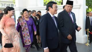 Chủ tịch Trương Tấn Sang và Tổng thống Susilo Bambang Yudhoyono