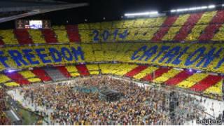Aspecto del Camp Nou
