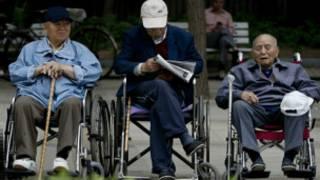 Foto: AP   população chinesa envelhecendo