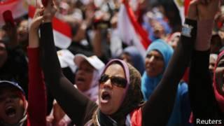 Manifestantes en Egipto