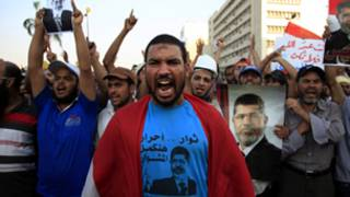 Morsi supporters in Egypt