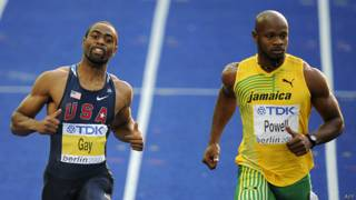 Tyson Gay y Asafa Powell