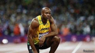 Asafa Powell, en una foto de las Olimpiadas de 2012