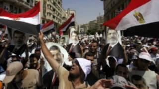 Simpatizantes del depuesto presidente Morsi
