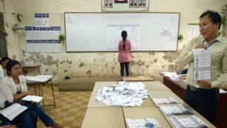 Bắt đầu kiểm phiếu ở Campuchia