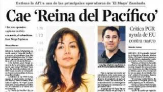 Noticia de la captura de Sandra Ávila.