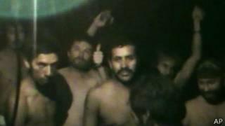 Mineros atrapados antes del rescate, en 2010. Foto: AP