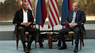 अमेरिकि राष्ट्रपति ओबामा र रुसी राष्ट्रपति भ्लादिमिर पुटिन