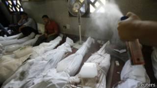 Тела погибших в Египте