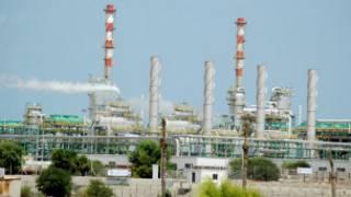 Un port pétrolier, en Libye