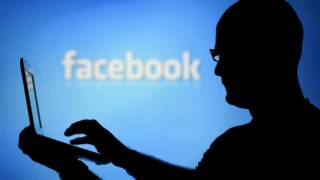 फ़ेसबुक लोगो आदमी