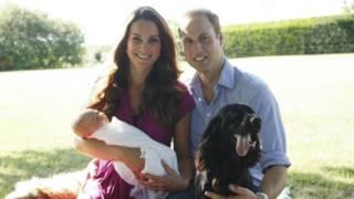 Cambridge Dükü ve Düşesi ile bebek Prens George