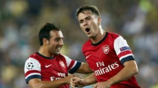 Aaron Ramsey ya ci wa Arsenal ta biyu