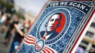 Başkan Obama'nın ünlü sloganını hicveden pankart