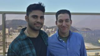 David Miranda e Glenn Greenwald