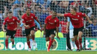 Campbell a marqué deux buts en 8 minutes donnant l'avantage à Cardiff City (3-2) sur Manchester City.