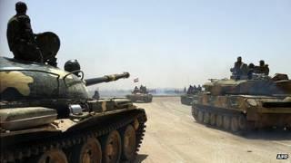 Tanques del ejército de Siria