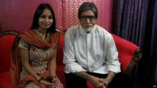 अमिताभ बच्चन के साथ मधु पाल