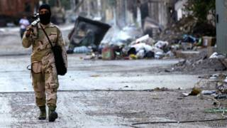 Cảnh tàn phá ở Syria