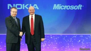 Руководители Nokia и Microsoft (11 февраля 2011 года)