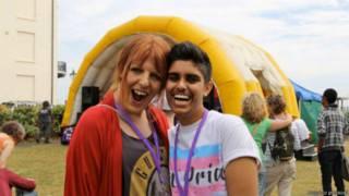 Sabah Choudrey na Trans Pride 2013 | Foto: arquivo pessoal