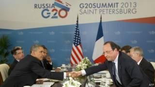 Obama e Hollande no G20 (AFP)