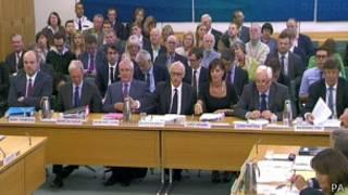 مدیران پیشین و فعلی بیبیسی در مقابل کمیته پارلمانی
