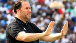 Nabil Maaloul, le sélectionneur de l'équipe tunisienne, lors d'un match des éliminatoires pour la Coupe du Monde.