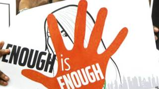 ब्लात्कार के विरोध में प्रदर्शन