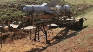 Ракет с химической боеголовкой в Сирии