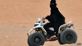 Saudi woman drives, AFP