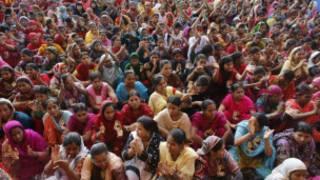 Protes kenaikan upah di Bangladesh