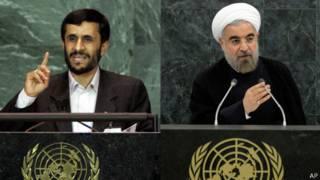 Ахмадинежад и Роухани