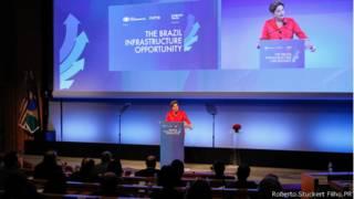 Dilma no evento em NY
