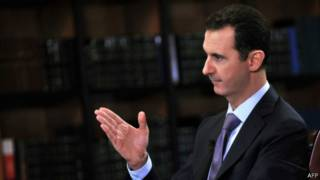 Bashar Al-Assad em entrevista a canal italiano   Foto: AFP