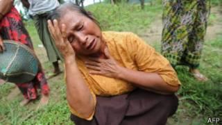 Mujer en Birmania