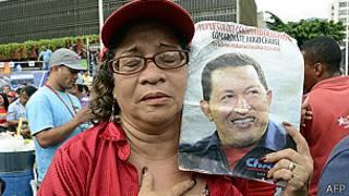 Partidaria de Hugo Chávez