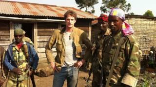 Dan Snow con rebeldes del M23