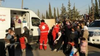Ma'aikatan kungiyar bada agaji ta duniya Red Cross