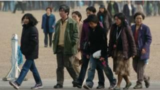 在倫敦市中心的中國遊客。