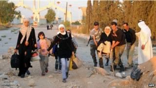 Sobreviventes sírios (AFP)